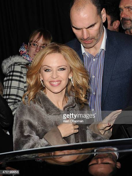 Kylie Minogue sightingat the Elle Style Awards on February 18 2014 in London England