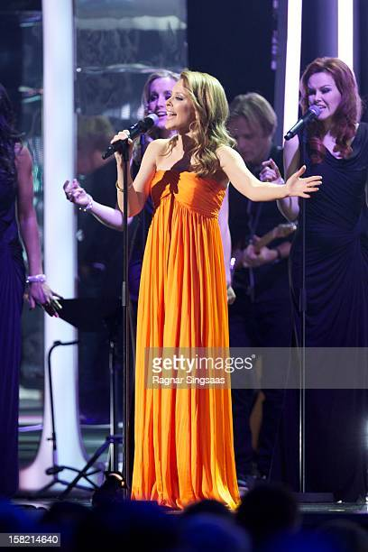 Kylie Minogue sings at the Nobel Peace Prize Concert at Oslo Spektrum on December 11 2012 in Oslo Norway