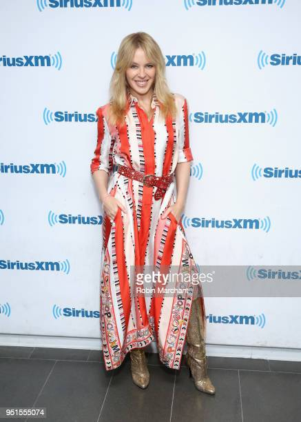 Kylie Minogue visits at SiriusXM Studios on April 26 2018 in New York City