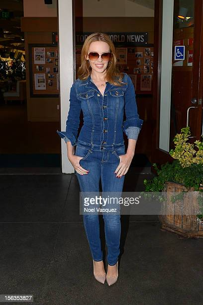 Kylie Minogue visits Extra at The Grove on November 13 2012 in Los Angeles California