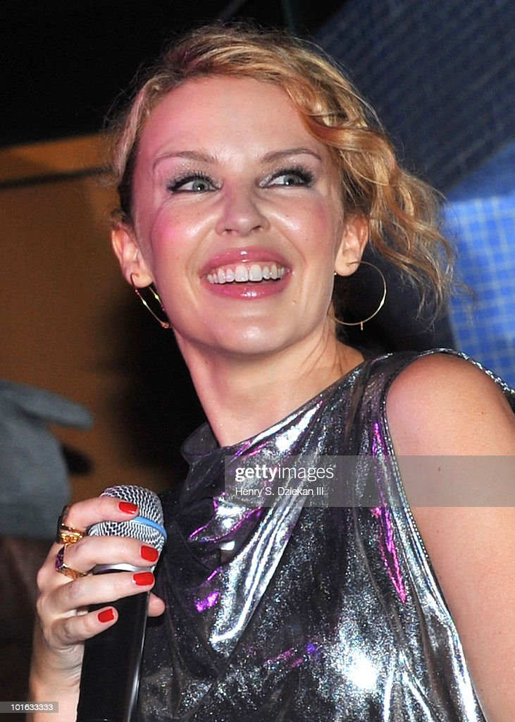 Kylie Minogue visits Splash Bar on June 4, 2010 in New York City.