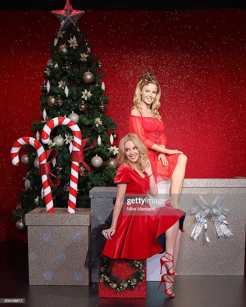 Kylie Minogue Visits Madame Tussauds