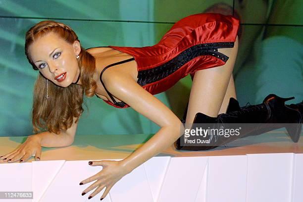 Kylie Minogue's waxwork during Kylie Minogue's Waxwork Unveiled at Madame Tussauds in London at Madame Tussauds in London England Great Britain