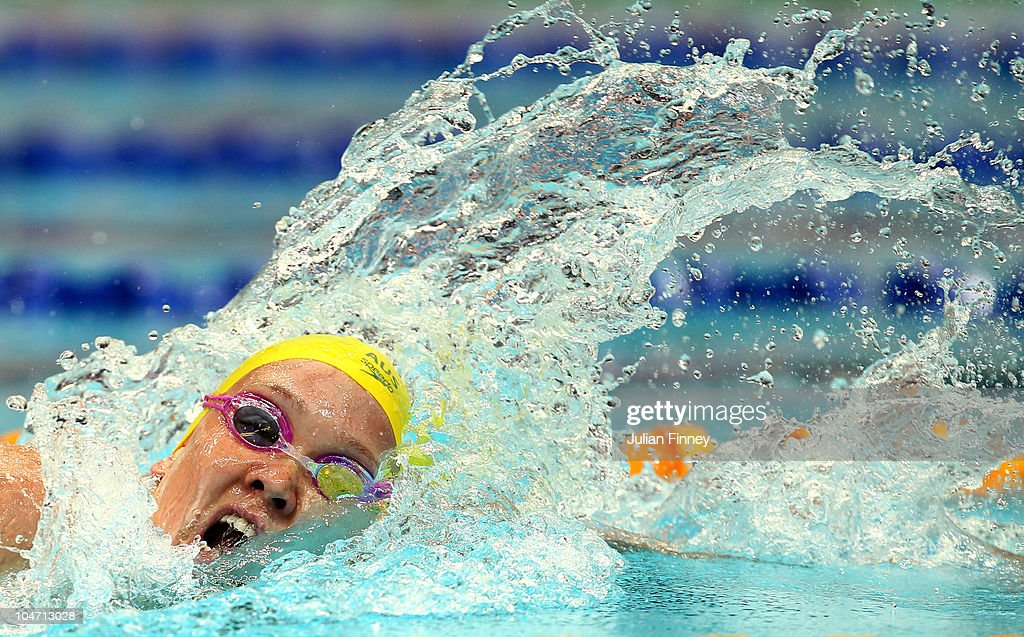 Kylie Palmer of Australia competes in the Women's 200m Freestyle Heat 2 at the Dr. S.P. Mukherjee Swimming Complex during day one of the Delhi 2010 Commonwealth Games on October 4, 2010 in Delhi, India.