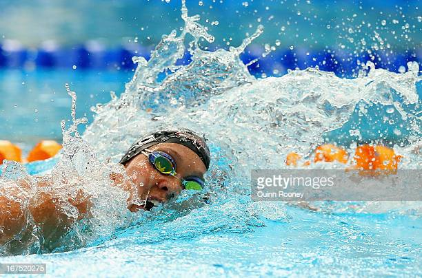Kylie Palmer of Australia competes in the Women's 400 Metre Freestyle during day one of the Australian Swimming Championships at the SA Aquatic and...