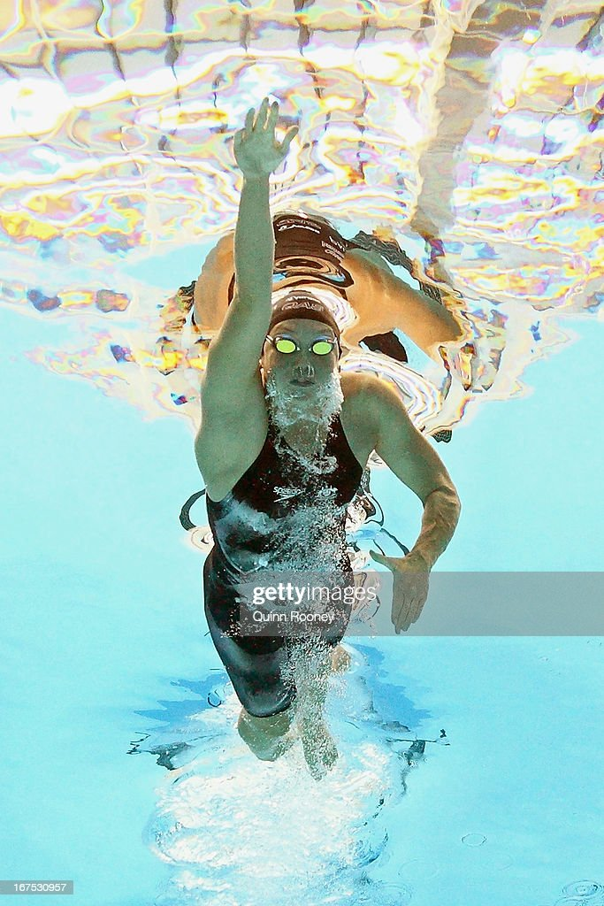 Kylie Palmer of Australia competes in the Women's 400 Metre Freestyle during day one of the Australian Swimming Championships at the SA Aquatic and Leisure Centre on April 26, 2013 in Adelaide, Australia.