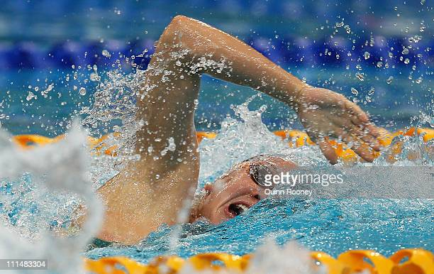 Kylie Palmer of Australia races in the Semi Final of the Women's 200 Metre Freestyle during day three of the 2011 Australian Swimming Championships...