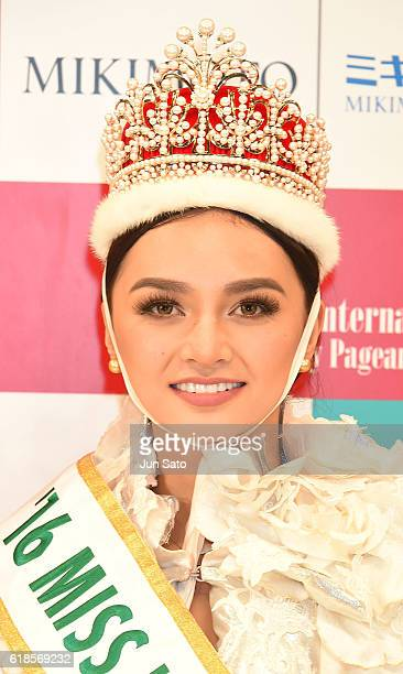 Kylie Verzosa of Philippines is crowned Miss International 2016 during the 56th Miss International Beauty Pageant at Tokyo Dome City Hall on October...