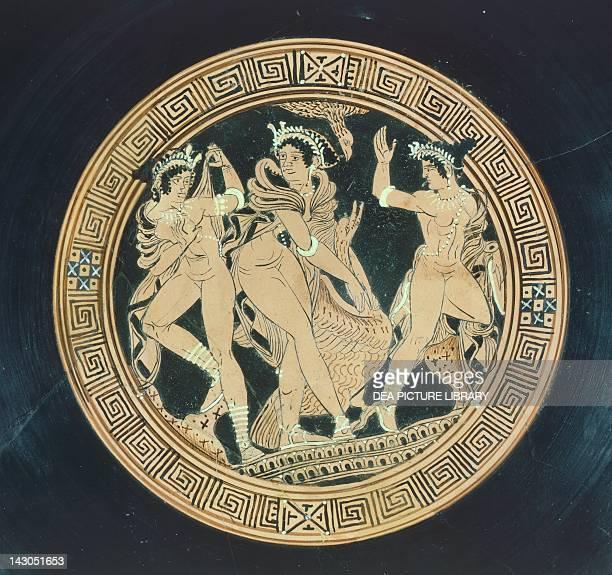 Kylix detail Redfigure pottery Etruscan Civilisation 5th4th Century BC Geneva Musée D'Art Et D'Histoire