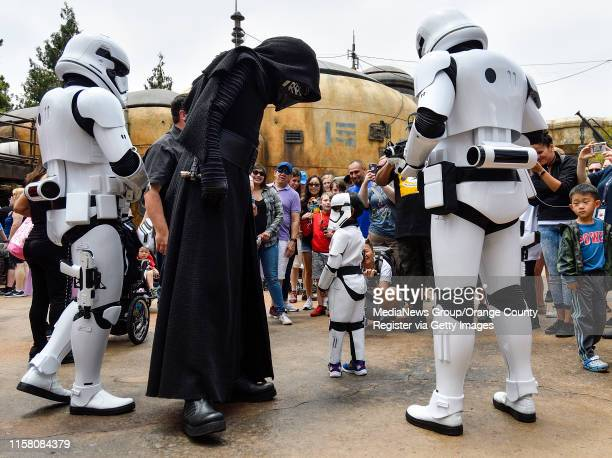 Kylo Ren and stormtroopers interrogate three-year-old Bobby Isaias Navarette at Black Spire Outpost during the first day without needing a...