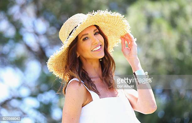 Kyly Clarke arrives at Polo In The City at Centennial Park on November 12 2016 in Sydney Australia