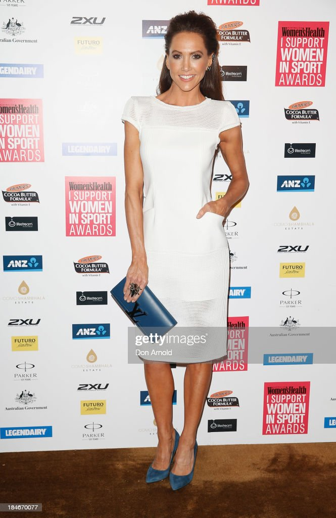 Kyly Clarke arrives at the 'I Support Women In Sport' awards at The Ivy Ballroom on October 15, 2013 in Sydney, Australia.