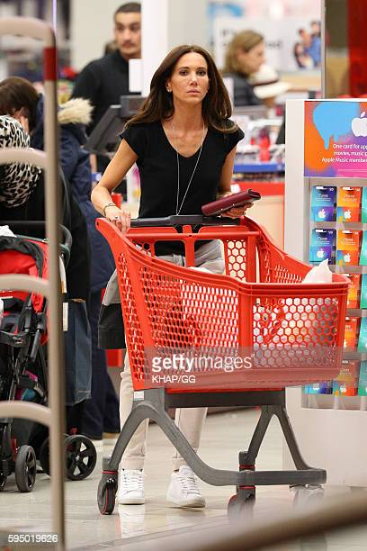 Kyly Clarke pictured shopping on August 25 2016 in Sydney Australia