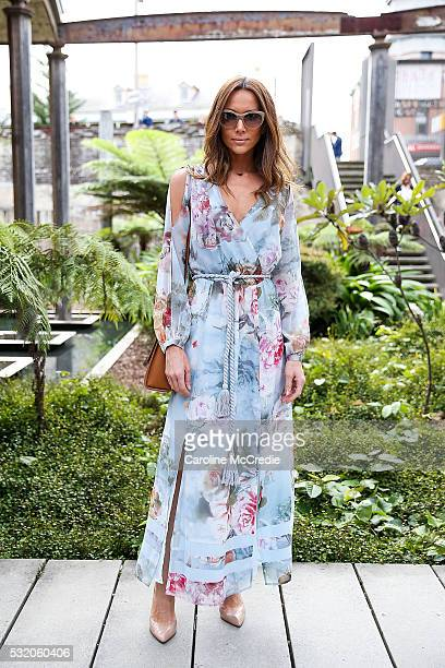 Kyly Clarke wearing We Are Kindred dress Hugo Boss handbag Louboutin heels Valentino sunglasses and Thomas Sabo jewellery arrives ahead of the KITX...
