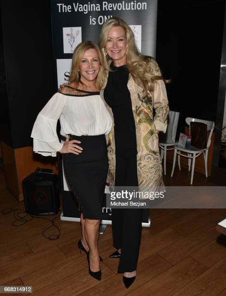 Kym Douglas and Christine Mango attend Dr Sherry A Ross sheology Book Launch Event at Katsuya on April 13 2017 in Los Angeles California