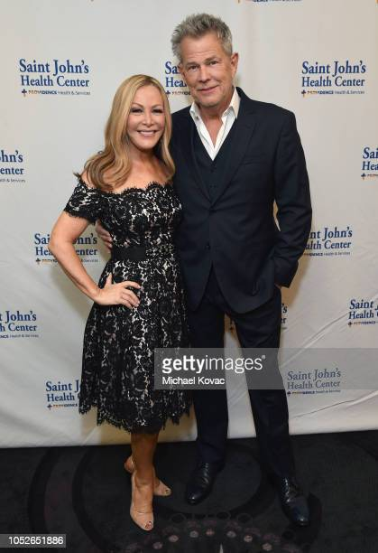 Kym Douglas and David Foster attend the Saint John's Health Center Foundation Gala at The Beverly Hilton Hotel on October 20 2018 in Beverly Hills...