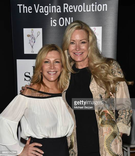 Kym Douglas and Kathryn Ireland attend Dr Sherry A Ross sheology Book Launch Event at Katsuya on April 13 2017 in Los Angeles California