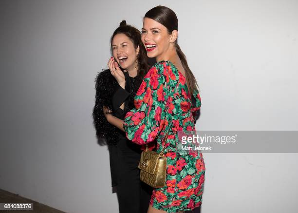 Kym Ellery and Georgia Fowler arrive ahead of the Ellery X Etihad Airways event at MercedesBenz Fashion Week Resort 18 Collections at The Elston Room...