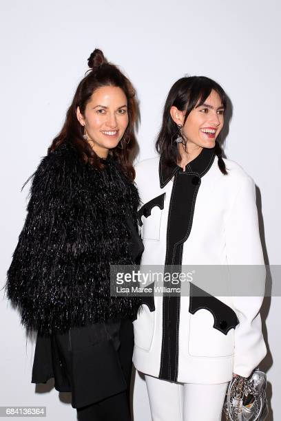 Kym Ellery and Isabella Manfredi arrive ahead of the Ellery X Etihad Airways event at MercedesBenz Fashion Week Resort 18 Collections at The Elston...