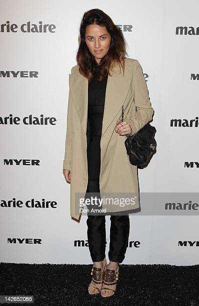 Kym Ellery arrives at the 2012 Prix De Marie Claire Beauty Awards at the Museum of Contemporary Art on April 11 2012 in Sydney Australia