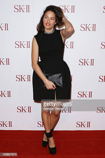 Kym Ellery arrives for a SKII skincare line red carpet event at David Jones on October 11 2012 in Sydney Australia