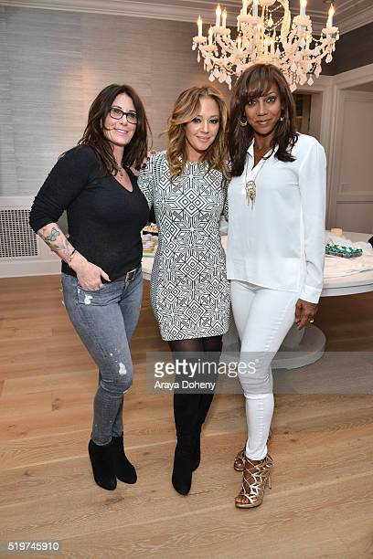 Kym Gold Leah Remini and Holly Robinson Peete attend the Stella Dot Trunk Show to benefit The HollyRod Foundation on April 7 2016 in Encino California