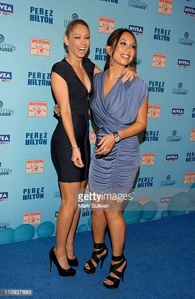 Kym Johnson and Cheryl Burke attend Perez Hilton's Blue Ball Birthday Celebration on March 26 2011 in Hollywood California