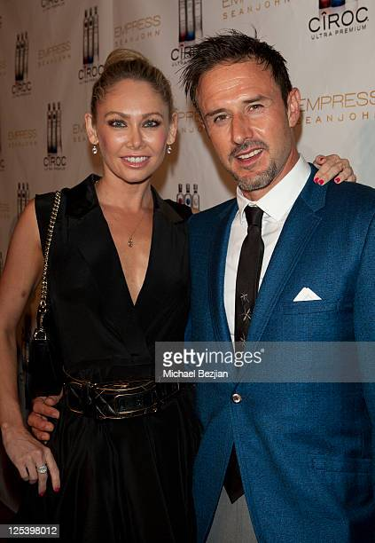 Kym Johnson and David Arquette attend the Pre-Emmy Event With Sean John's EMPRESS Hosted by Cheryl Burke And Derek Hough at Trousdale on September...