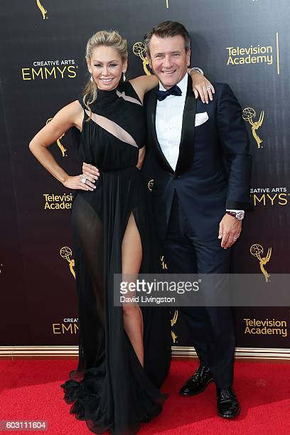 Kym Johnson and Robert Herjavec attend the 2016 Creative Arts Emmy Awards Day 2 at the Microsoft Theater on September 11 2016 in Los Angeles...