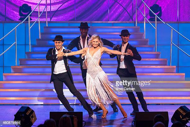 Kym Johnson performs during the Dancing With The Stars Live Tour at Turning Stone on December 28 2014 in Verona New York
