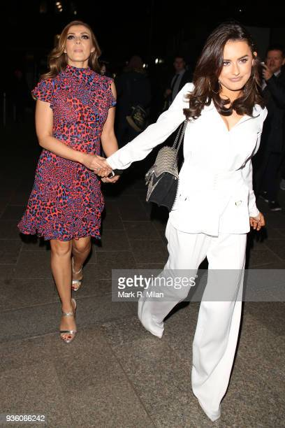 Kym Marsh and Amber Davies attending the OK Magazine's 25th anniversary party at the Shard on March 21 2018 in London England
