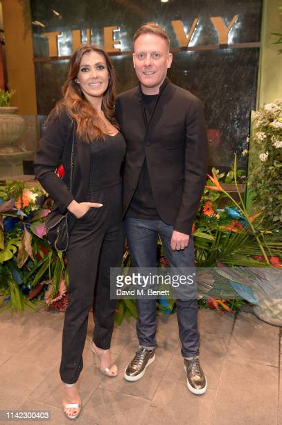 Kym Marsh and Antony Cotton attend The Ivy Spinningfields Manchester Super Party on April 12 2019 in Manchester England