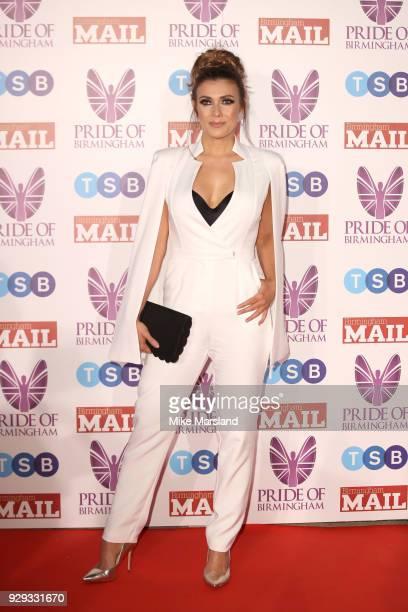 Kym Marsh arrives at the Pride Of Birmingham Awards 2018 at University of Birmingham on March 8 2018 in Birmingham England