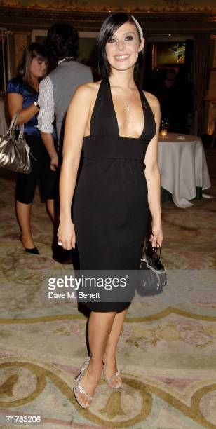 Kym Marsh arrives at the TV Quick TV Choice Awards acknowledging the most popular TV programmes and stars in 16 categories at The Dorchester on...