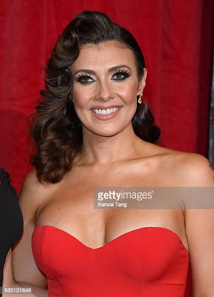 Kym Marsh arrives for the British Soap Awards 2016 at the Hackney Town Hall Assembly Rooms on May 28 2016 in London England
