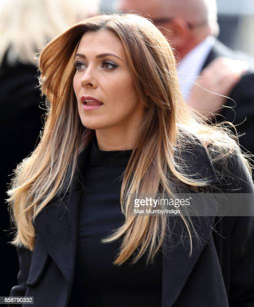 Kym Marsh attends the funeral of Liz Dawn at Salford Cathedral on October 6 2017 in Salford England Actress Liz Dawn played Vera Duckworth in...