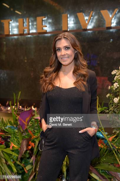 Kym Marsh attends The Ivy Spinningfields Manchester Super Party on April 12 2019 in Manchester England