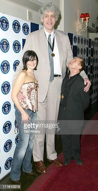 Kym Marsh Chris Greener the tallest living man and Wayne Sleep