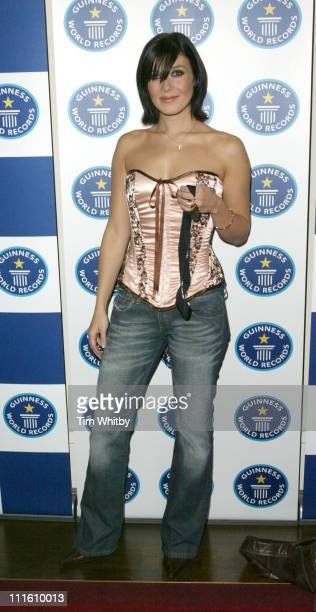 Kym Marsh during 50th Anniversary Party for the Guinness Book of World Records at The Royal Opera House in London Great Britain