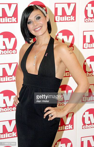 Kym Marsh during TV Quick Awards TV Choice Awards Inside Arrivals at The Dorchester in London Great Britain