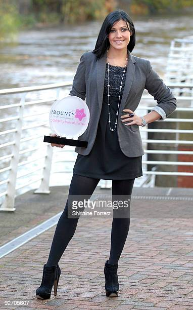 Kym Marsh is revealed as Celebrity Mum Of The Year at Lowry Hotel on November 4 2009 in Manchester England