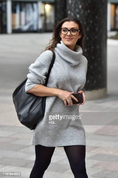 Kym Marsh seen at the ITV Studios on January 06 2020 in London England