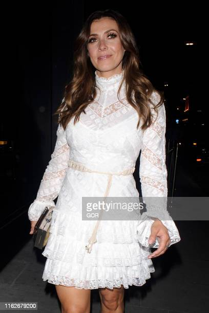 Kym Marsh seen leaving the ITV Summer party at Nobu Shoreditch on July 17 2019 in London England