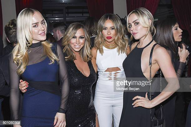 Kym McClay Diana Madison Nora Mansour and Alexis McClay attend 2015 Obsev Studios Holiday Party on December 11 2015 in Los Angeles California