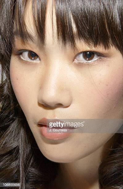 Kym P. Backstage during Miami Fashion Week Funkshion Fashion 2005 - MAC Cosmetics and Ric Pipino - Backstage at The Tents at Ocean Drive in Miami,...