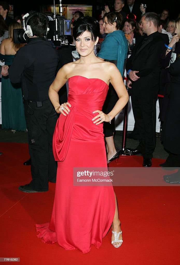 Kym Ryder arrives for the National Television Awards at the Royal Albert Hall on 31 October 2007 in London England.
