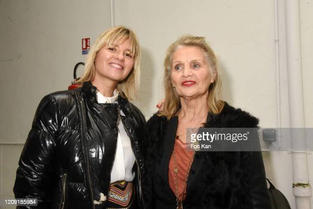 Kym Thiriot and her mother Marion Thiriot attend the Alianna Liu show as part of the Paris Fashion Week Womenswear Fall/Winter 2020/2021 on February...