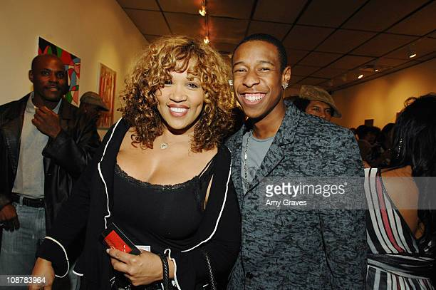 Kym Whitley and Deance Wyatt during Jesse Raudales and Terrence Howard Peace for the Children Art Show at PounderKone Artspace in Glendale California...