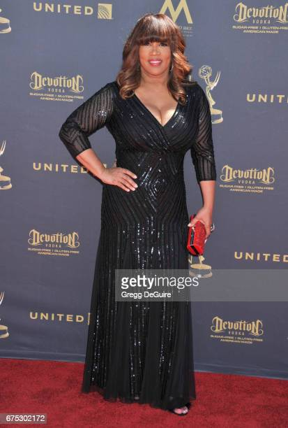 Kym Whitley arrives at the 44th Annual Daytime Emmy Awards at Pasadena Civic Auditorium on April 30 2017 in Pasadena California