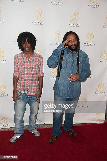 KyMani Marley and son attend 8th Annual Sounding Off For a Cure Benefit Concert at Hammerstein Ballroom on June 6 2013 in New York City